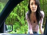 Recoge a una autoestopista y por el camino se la folla