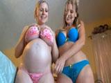 Un buen rato de sexo lésbico con mi amiga embarazada