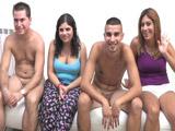 Españolas cerdas: beso negro, lamida de pies e intercambio